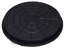 Люк садовый пластмассовый легкий черный