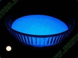 Люминесцентный пигмент ТАТ 33 базового синего цвета.