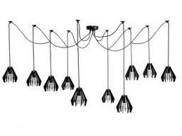 Люстра подвесная Atma Light 10 плафонов серии Art Stels Spider-10 Black