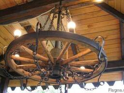 Люстры деревянные потолочные №2 Код: ДЛ-2 Под заказ