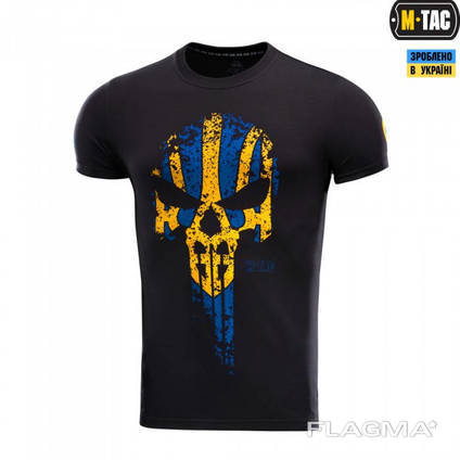 M-Tac футболка Месник Black/Yellow/Blue