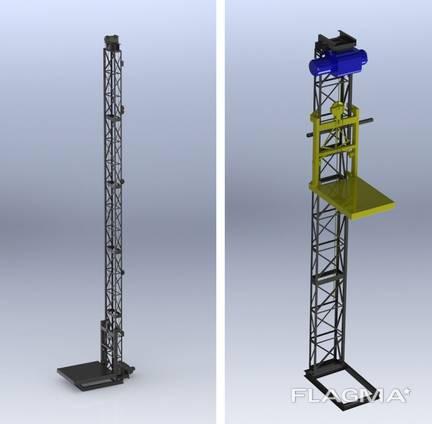 Мачтовый строительный подъёмник 500 кг Виралифт