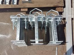 Кронштейны для крепления трубостойки (офсет), хомуты, бандажи для крепления трубостоек