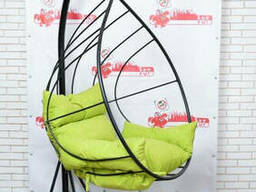 Підвісне крісло кокон з металу в стилі лофт
