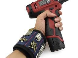 Магнитный браслет для строителей и мастеров, на 3 магнита