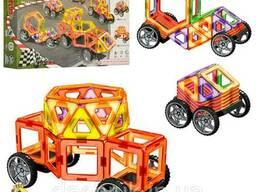 Магнитный конструктор арт. LT3002 транспорт, 58 деталей, в коробке 45,5-32-8 см (Limo Toy)