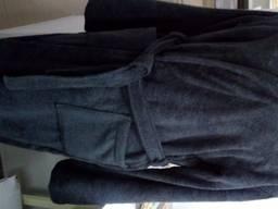 Серый махровый халат ХЛ
