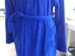 Синие махровые халаты в ассортименте