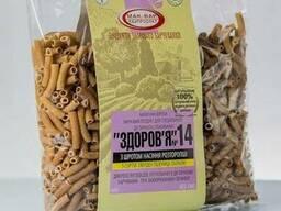 Макароны «Здоровье» №14 с семенами расторопши из тв. сортов