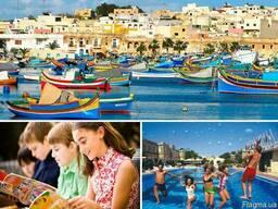 Мальта Обучение отдых для детей.