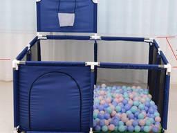 Манеж детский большой игровой Imbaby 128 х 128 см. Бассейн