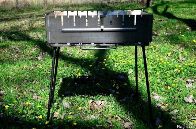 Мангал раскладной металл 2мм на 8 шампуров