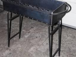 Мангал со съемными ножками.700*160*320, 3 мм. 19 кг