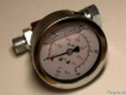Манометр окрасочного агрегата высокого давления.