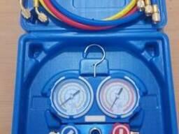 Манометрический коллектор 2-х вентельный, шланг 3/120см R22