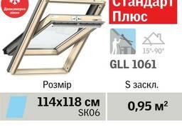 Мансардное окно Velux Стандарт Плюс GLL 1061, ручка. ..