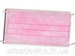Маска медицинская защитная Біталюкс XL розовая сертифицированная трехслойная 25шт. ..