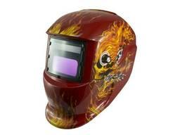 Маска сварочная Blackout - хамелеон TH-41-C518 красный череп