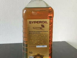 Масло для цепи Syper OIL на бензопилы и электропилы. Фасовка 1 л.
