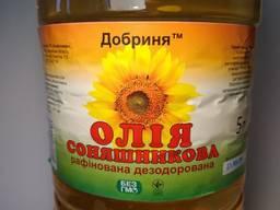 Масло подсолнечное рафинированное Добрыня 1 л
