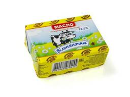 Масло сладкосливочное Селянское 72,5% в пачках по 200 г