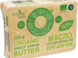 "Масло жирн.74,5 % 200г, солодковершкове ""селянське"" органічн"