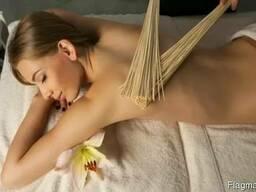 Массажнный бамбуковый веник для бани и сауны