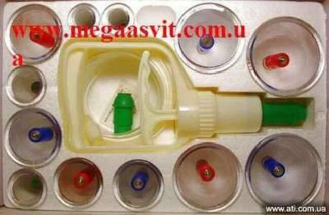 Массажные вакуумные банки с насосом (12 шт. )