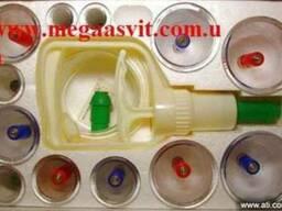 Массажные вакуумные банки с насосом (12 шт. ) - фото 1