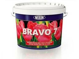 Матовая акриллатексная краска для стен Mixon Bravo-7. 2,5 л