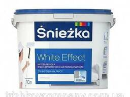 Матовая акриловая краска для стен и потолка Sniezka White. ..
