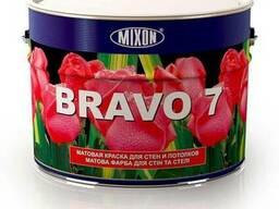 Матовая акриловая краска для стен Mixon Bravo-7. 10 л