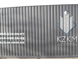 Матовый профнастил серый графит RAL 7024, купить профлист гр