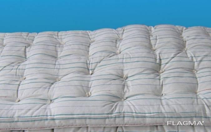 Матрас ватный 70х190 см ткань тик, тиковый матрас