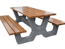 Мебель для улицы, садовые, парковые столы и скамейки, садовая мебель без спинки