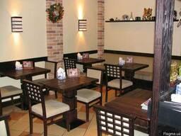 Мебель и декоративные элементы из дерева,МДФ,шпона для кафе.