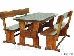 Мебель из дерева для дачи, комплект деревянный 2200*900