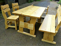Мебель из натурального дерева, комплект деревянный 1600*800