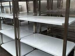 Стеллаж из нержавеющей стали для кухни кафе склада магазина