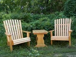 Мебель из массива дерева для дачи, комплект для отдыха 750*5