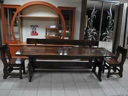 Мебель из натуральгого дерева для кафе, комплект средний дер