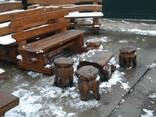 Мебель садовая с дерева - фото 4