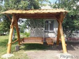 Деревянная качеля в рустикальном стиле большая ручная работа