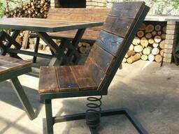 Мебель в стиле лофт или индустриальный из металла и дерева.