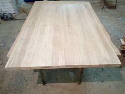 Мебельный щит деревянный дуб цельный 24мм.