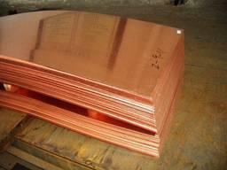 Медный лист М1, М2 3х1500х600мм, 3х1000х2000мм
