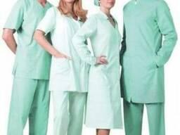Медицинские костюмы, мята, мужские\женские. Заказ на пошив