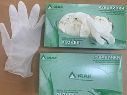 Медицинские перчатки, латексные