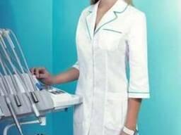 Халат белый для медиков, фармацевтов, работниц лабораторий