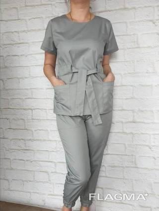 Медицинский костюм куртка и брюки на манжетах